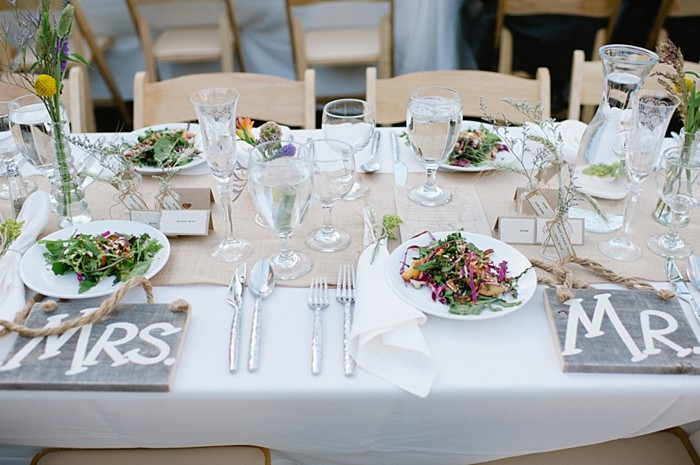 mr and mrs place setting | steamboat springs wedding | Andy Barnhart