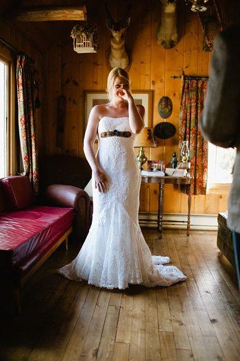 first look bride | steamboat springs wedding | Andy Barnhart