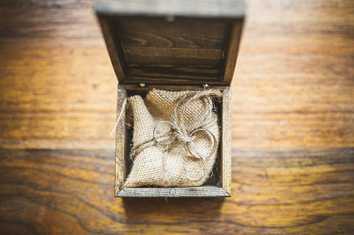 ring box | Forest wedding in western North Carolina | Tesar Photography