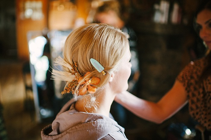 hair piece | steamboat springs wedding | Andy Barnhart