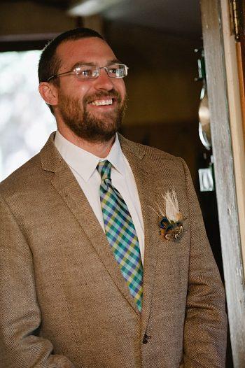 first look groom | steamboat springs wedding | Andy Barnhart