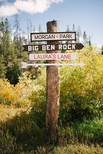 signs | fall steamboat springs wedding | Andy Barnhart