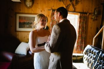 first look both | steamboat springs wedding | Andy Barnhart