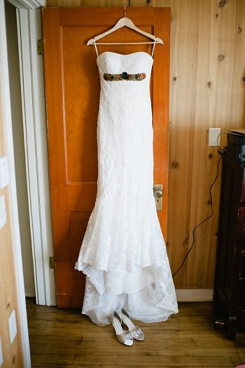 dress in doorway | steamboat springs wedding | Andy Barnhart