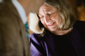 emotional moment with mom | steamboat springs wedding | Andy Barnhart