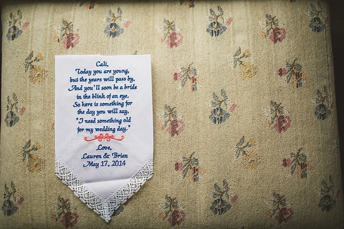 custom handkerchief | Forest wedding in western North Carolina | Tesar Photography