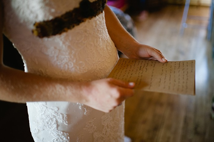 bride letter | steamboat springs wedding | Andy Barnhart
