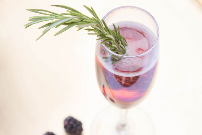 Blackberry Rosemary Prosecco
