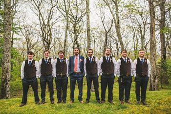 Forest wedding in western north carolina   Tesar Photography