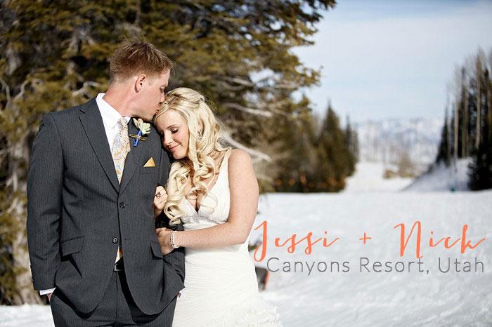 Canyons Utah winter wedding | Pepper Nix Photography