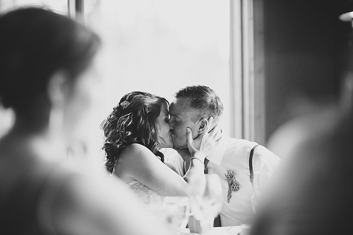 bride and groom kiss | Pyramid Lake wedding | Jarusha Brown Photography
