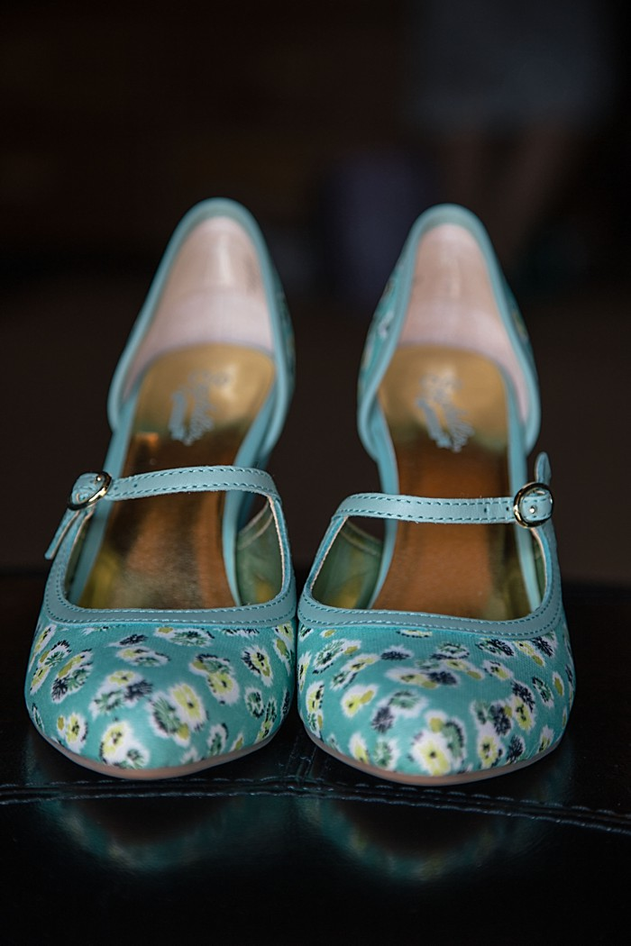 blue fabric flower shoes | Photography by Fox Owl Studio