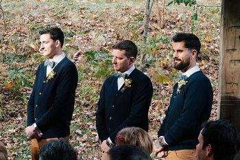 groomsmen North Carolina ceremony venue | Photography by Fox Owl Studio