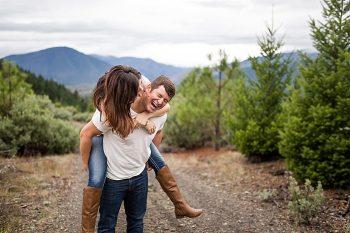 Mountaintop engagement   Lake Selmac   Nikita Lee Photography