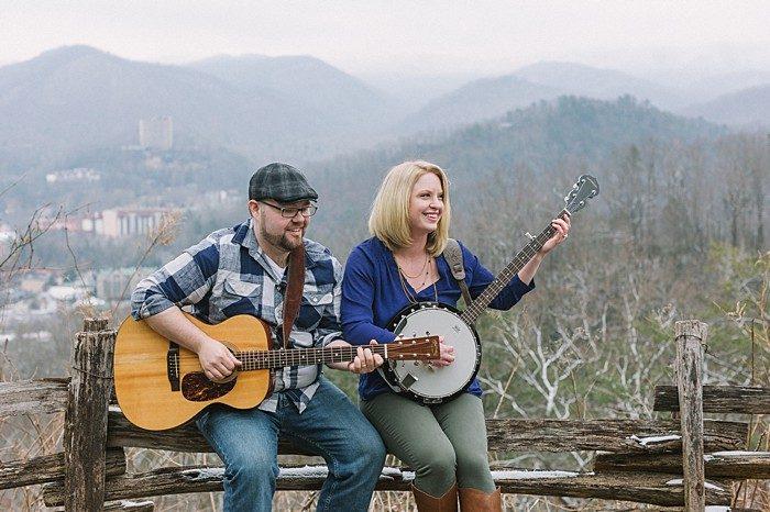 Appalachian fall engagement shoot by JoPhoto