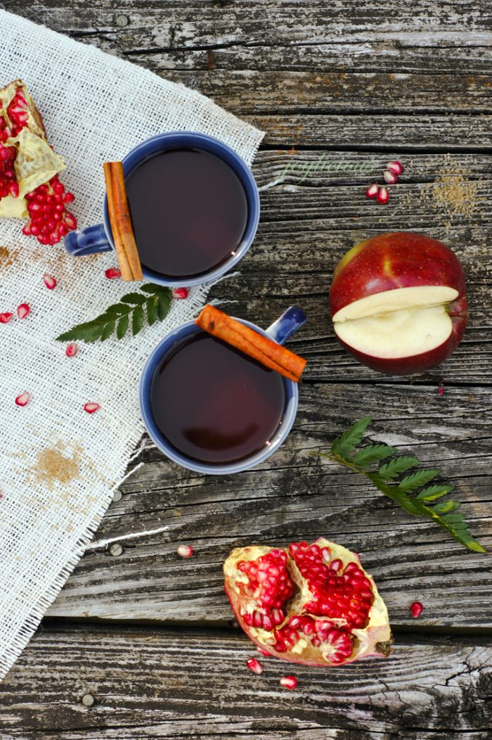 Pomegranate Mulled Cider