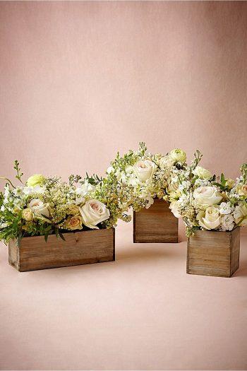 Wooden Box Planters BHLDN
