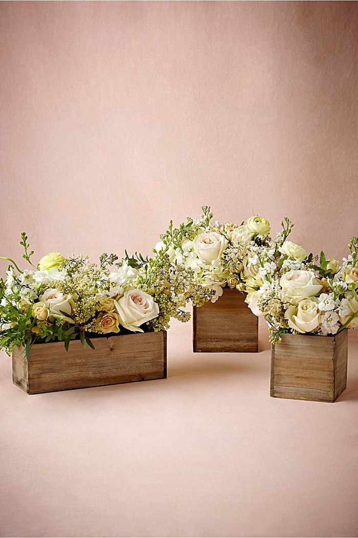 Wooden Box Planters BHLDN