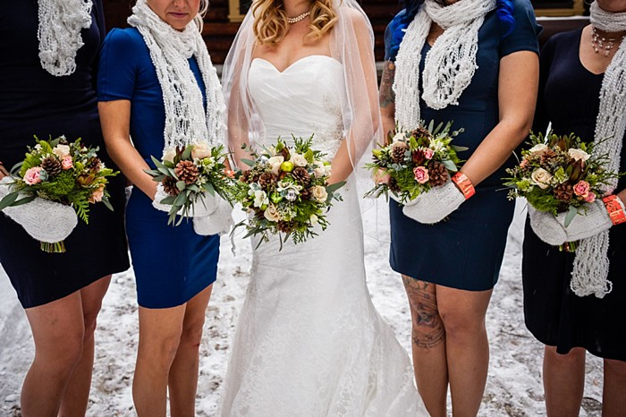 bridesmaids | winter Revelstoke wedding | Christina Louise Photography
