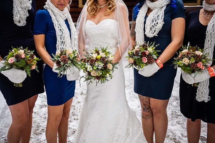 bridesmaids | winter Revelstoke wedding | Christina Louise Photography