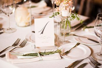 table numbers | Breckenridge wedding at 10 Mile station |INphotography