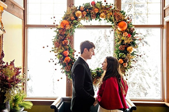 Emerald Lake winter elopement | Orange Girl