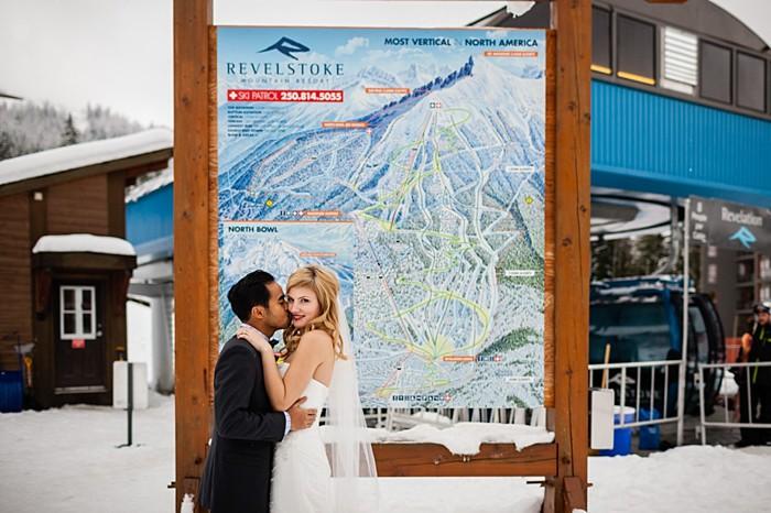 ski resort portraits | winter Revelstoke wedding | Christina Louise Photography