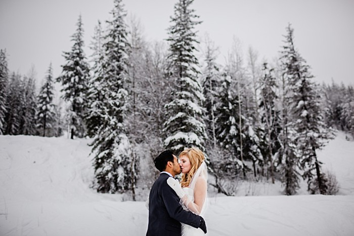 winter portraits | winter Revelstoke wedding | Christina Louise Photography