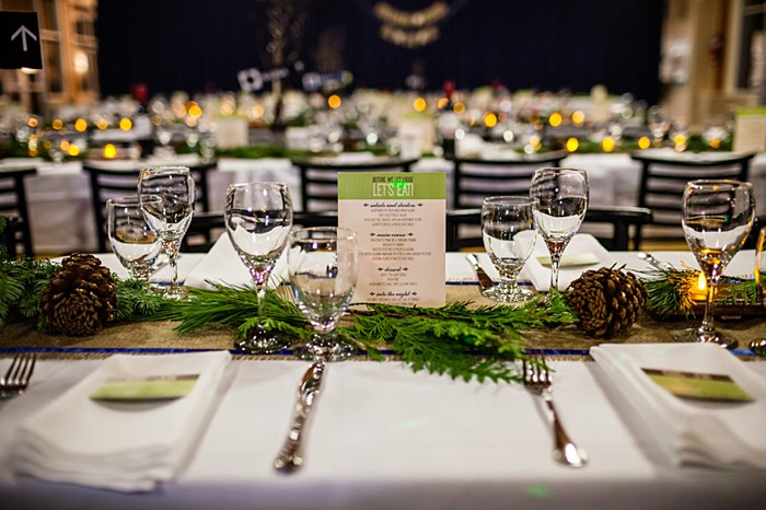 rustic winter tablescape | winter Revelstoke wedding | Christina Louise Photography