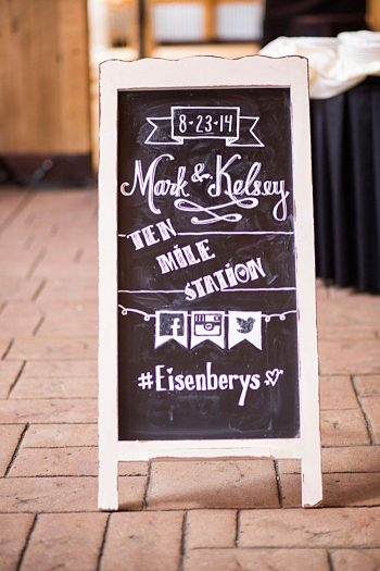 chalkboard wedding sign | Breckenridge wedding at 10 Mile station |INphotography