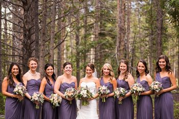 bridesmaids in purple dresses | Breckenridge wedding at 10 Mile station |INphotography