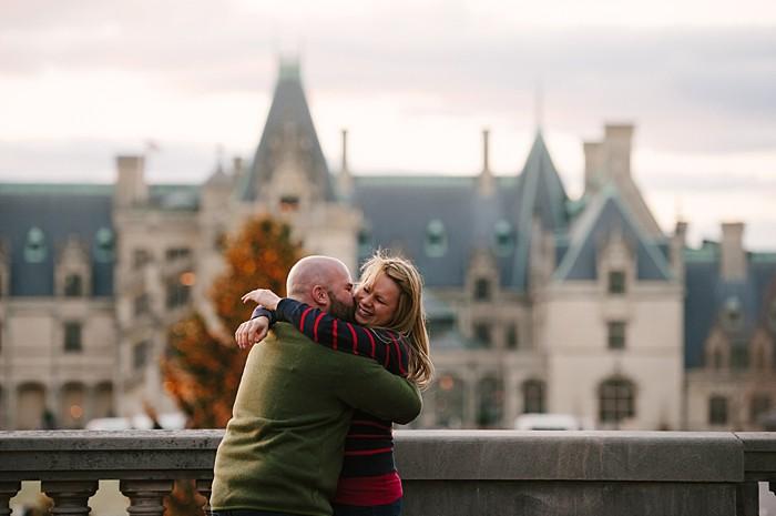 winter engagement at the Biltmore | Lauren Rae Photography