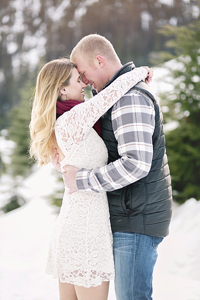 Winter Engagement at Snoqualmic Mountain   Alante Photography