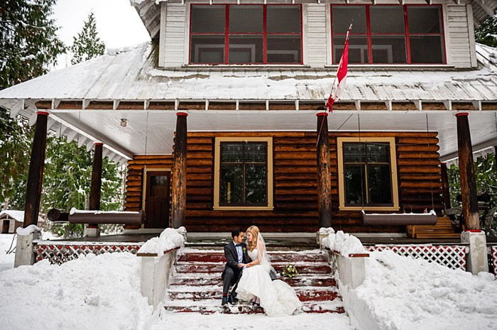 winter Revelstoke wedding | Christina Louise Photography