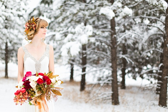 winter wonderland wedding inspiration | Photo by eb+jc photography