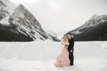 Lake Louise winter wedding | Orange Girl photography