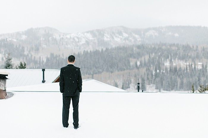Groom wants in the snow | Frozen Winter Utah Mountain Wedding | Meg Ruth Photo