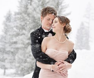 Lake Louise winter wedding | Orange Girl photography