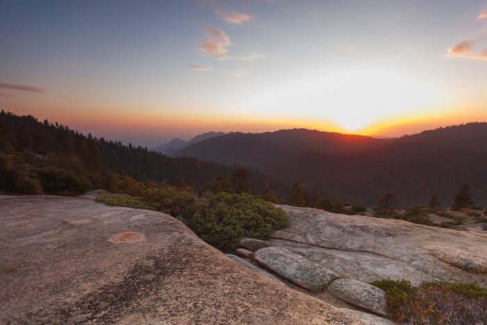 Getting married in Sequoia National Park | Sunset Rock 02