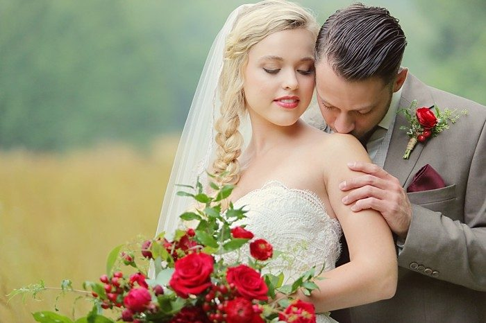Romantic Red Wedding Inspiration   bouquet   Smoky Mountains   Julie Roberts Photographic Artist