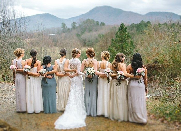 bridesmaids in mountains | Cherokee National Forest | JOPHOTO photography