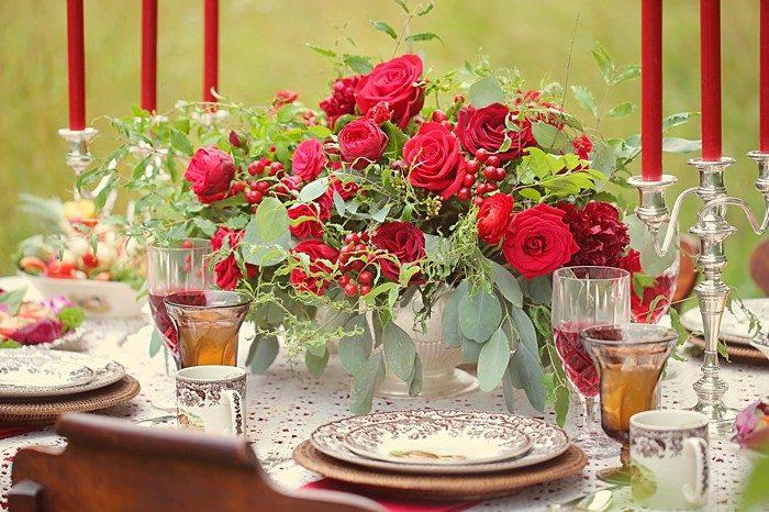Romantic Red Wedding Inspiration   Smoky Mountains   Julie Roberts Photographic Artist