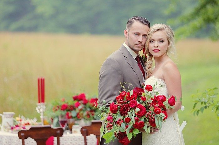 Romantic Red Wedding Inspiration | Smoky Mountains | Julie Roberts Photographic Artist