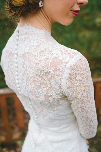 bride lace wedding gown back detail | Cherokee National Forest | JOPHOTO photography