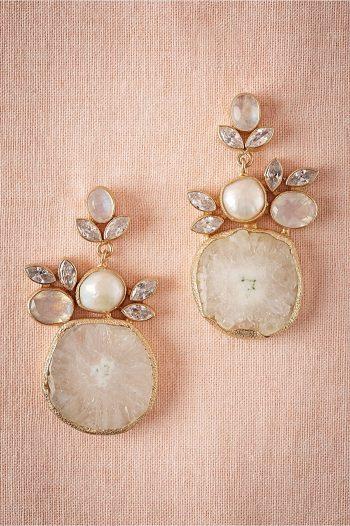 Druzy Drop Earrings | BHLDN