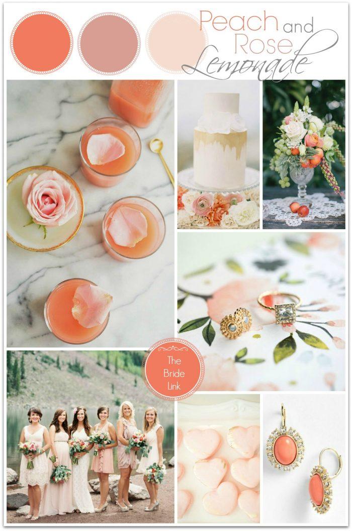 peach and rose lemonade inspiration