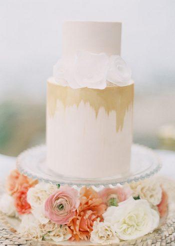 wedding cake peach wedding inspiration 9