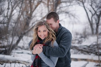 Snowy Colorado Engagement Session | Lisa Anne Photography