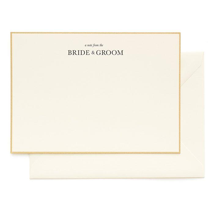 JCREW + Paper Sugar | Note From Bride Groom