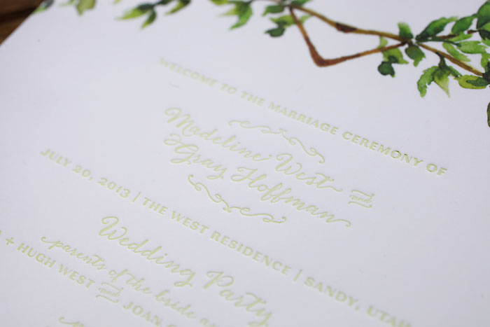 Rustic and Romantic Park City Wedding | Invitation | Pepper Nix Photography
